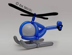 Balloon art Helicopter. #Balloon sculpture helicopter…