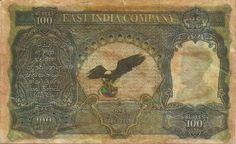 Hundred Rupee Issued by The East India Company