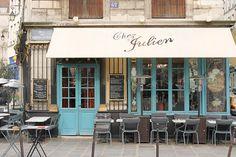 Paris Cafe in the Marais, Chez Julien, Paris Photography, Winter in Paris, Paris Photography, Blue Paris Decor