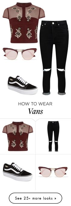 """""""Untitled #3171"""" by ana-bieber on Polyvore featuring Le Specs, River Island, Vans and Boohoo"""
