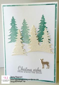 Who would have thought that the Delightful Daisy DSP makes a great Christmas card. This card uses the new Carols of Christmas bundle and was inspired by a card seen on Pinterest. This is Day 3 card of my week of Carols of Christmas. #carolsofchristmas #stampinupaustralia