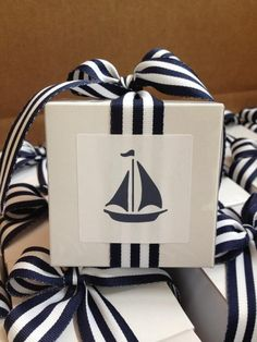 Summer gifts with a nautical style!!! Bebe'!!! Sail away with a jaunty gift wrap!!!