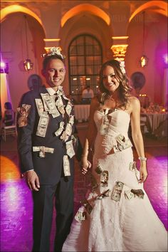 I Love That They Stuck The Money On Themselves For Dance Instead Of Tucking Traditions Wedding Blog