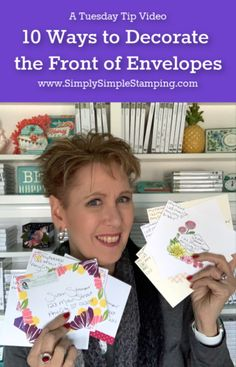 Connie Stewart offers card making tutorials and videos in a simple stamping style. Get your card making and scrapbooking supplies through the online store. Card Making Tips, Card Making Supplies, Card Making Tutorials, Card Making Techniques, Making Ideas, Hand Lettering Envelopes, Card Envelopes, Making Greeting Cards, Greeting Cards Handmade