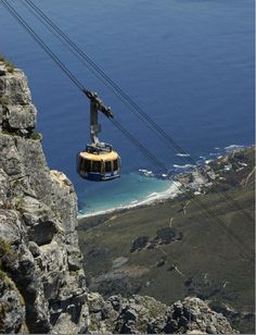 Cable-car at Table Mountain, Cape Town, South Africa African Vacation, Table Mountain, Wide World, Holiday Destinations, Cape Town, Golden Gate Bridge, Homeland, Dream Vacations, South Africa