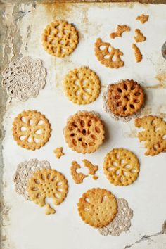 #Parmesan #lace #biscuit on #rustic white #surface #foodstyling #foodphotography