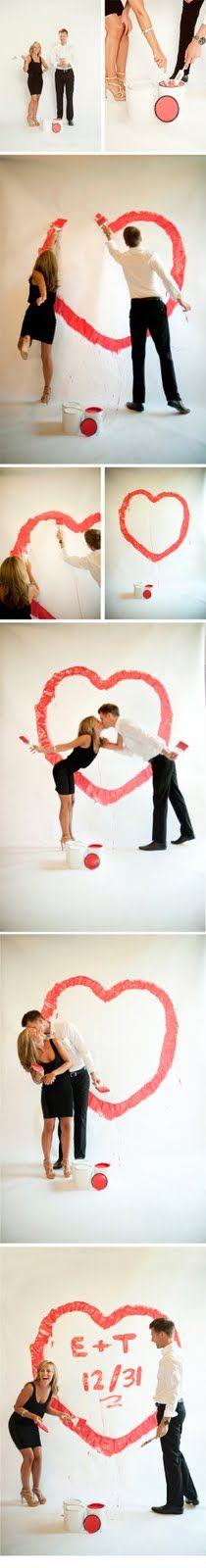 Engagement pictures w/paint! How freakin' cute!!