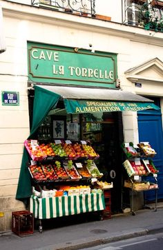 My first day in Paris we ate at a wonderful bistro across from this shop.  As we were leaving the owner was in the doorway smiling, I took a picture of him and the store.  Next thing I know he is screaming at me for taking the picture!!  Viva la difference!!