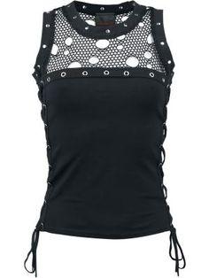 #punk #ropa Net Top por Queen Of Darkness $37.99 en #empspain la mayor tienda…