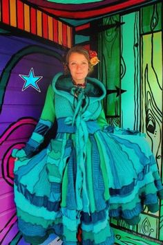 Elf Coat TUTORIAL  Green Pixie Dream Sweater by katwise on Etsy