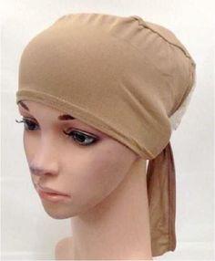 ladies Yoga Underscarf headscarf Tie back hijab cap turban bonnet bone chemo hat