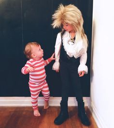Jareth the Goblin King & Toby from Labyrinth | How to make + sources | Kid Halloween Costume Ideas; Charlie & Calvin | Oh Lovely Day