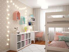 New Bedroom Design Kids Girls Grey Ideas Girl Bedroom Designs, Girls Bedroom, Bedroom Decor, Baby Bedroom, Kids Bedroom Furniture, Small Space Interior Design, Kids Room Design, Baby Boy Rooms, Girl Room