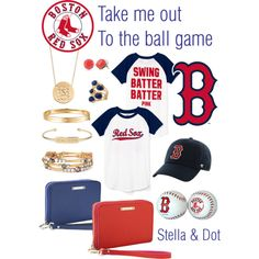 Red Sox by caseyeking on Polyvore featuring polyvore, fashion, style, Stella & Dot and Boelter