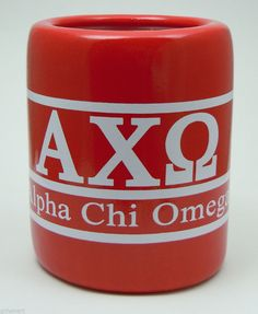Alpha Chi Omega, ΑΧΩ, Greek Letter/Name Kool Kan Koozie NEW