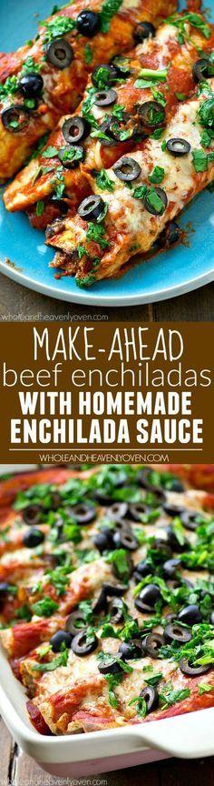 Make-Ahead Beef Enchiladas with Homemade Enchilada Sauce