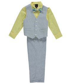 e01435fa065 Nautica offers your little guy the perfect 4-piece vest set for special  occasions.