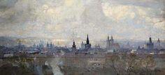 Prague Panorama | Jaroslav Šetelík | oil on canvas, 94 × 200 cm