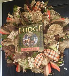 Rustic lake house decor wreaths