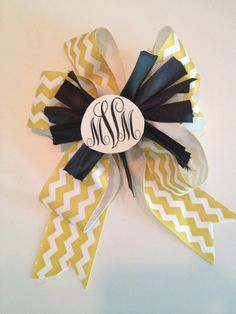 Corsage for the bride from a monograms and mimosas bridal shower!