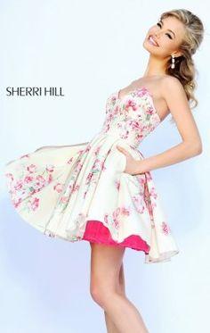 Strapless Sweetheart Dress by Sherri Hill 32246