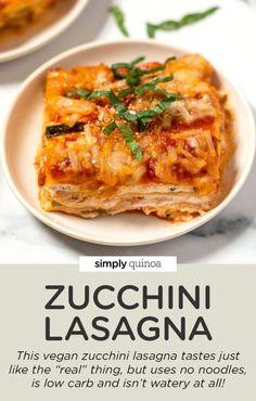 Easy Homemade Recipes, Vegan Recipes Easy, Vegetarian Recipes, Cooking Recipes, Vegan Pasta Sauce, Vegan Ravioli, Vegan Zucchini Lasagna, Vegan Meal Plans, Vegan Dinners