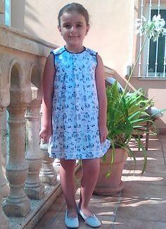 Girl dress Vestido niña estilo marinero Vestito por missmariposas