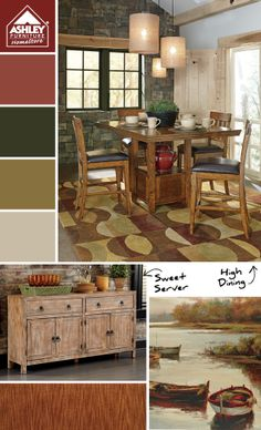 """Rustic dining set with barstools -Want to get updates on New Products like this and specials. Get the """"FREE"""" Home Design Network Smartphone/Tablet app. Go to  http://c8872bdb-e5e2-44c6-9f3b-7b8d09bd5add.mobapp.at/landing/Desktop#.VJCfenvZI9Q"""