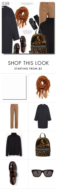 """""""fringe scarf"""" by bynoor ❤ liked on Polyvore featuring BP., Michael Kors, Marni, MANGO, Topshop, Prada, Winter and scarf"""