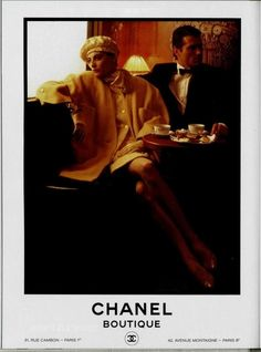 Vintage Chanel ad of the 1980s