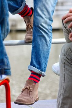 men styles, happy socks, men fashion, men clothes, man fashion, men shoes, crazy socks, stripe, red black