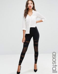 ASOS TALL NIGHT Mesh Insert Leggings