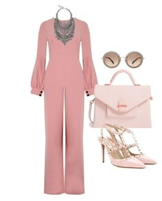 """Jumping Into Pink!!!"" by la-harrell-styling-co on Polyvore featuring Alexis, Ted Baker, Valentino, DYLANLEX and Miu Miu"