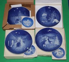 Bing & Grondahl Annual Christmas 1977 1978 1979 and 1980 B&G 4 plate set #babescollectibles