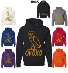 dc117eedbedc Drake OVOXO Owl Hooded Sweatshirt ovo Rap HipHop Tshirt by TeeHunt
