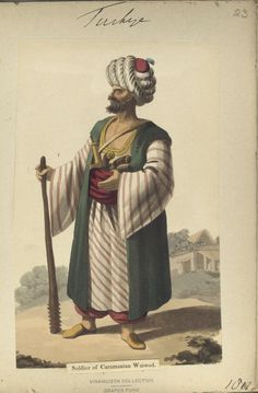 Soldier of Caramanian Waiwod. The Vinkhuijzen collection of military uniforms / Turkey, 1812. See McLean's Turkish Army of 1810-1815.