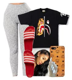 """""""Untitled #253"""" by lanadabest on Polyvore featuring adidas Originals and MCM"""