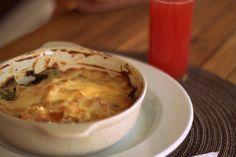 Gratinado de espinafres e grão - Meráki, vegetariano
