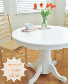 painted kitchen table how to