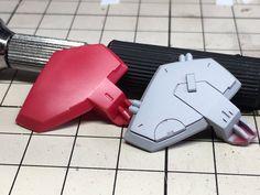 Custom panel line Gundam Tutorial, Gundam Custom Build, Gundam Art, Gunpla Custom, Clay Design, Custom Action Figures, Gundam Model, Panel Art, Mobile Suit