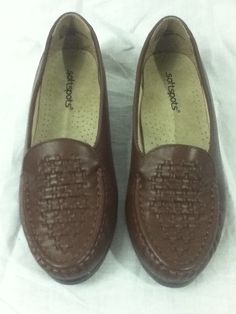 ab73dbec19c Softspots Brown Constance Comfort Leather Loafer Flats Shoes Sz 7 W Wide NIB