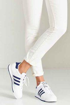 best website 86843 f5210 adidas Originals Samoa Blue Stripe Sneaker - Urban Outfitters Tennis  Sneakers, Adidas Sneakers, Vegan