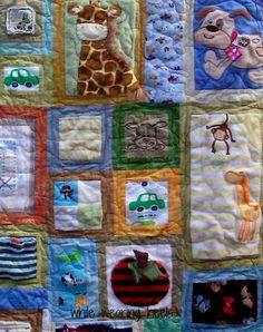 While Wearing Heels:  Quilt made with your baby clothes