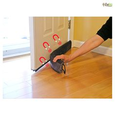 Evelots Magnetic Clip On Door Draft Stopper At 55% Savings Off Retail!