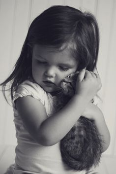 Little girls and kittens, perfect match.