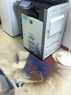 Cleanup in the Copy Room...