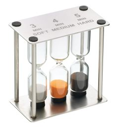MASTER CLASS PROFESSIONAL STAINLESS STEEL TRIPLE SAND TIMER