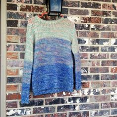 Forever 21 blue ombré sweater Not as dark as in pics - beautiful blue sweater - had seen wear but is in good condition! Forever 21 Sweaters