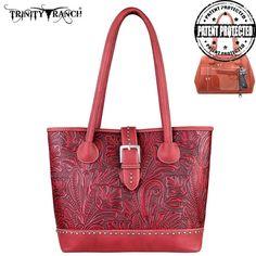 Montana West Trinity Ranch Genuine Leather Concealed Handgun Buckle Handbag (TR24G-L8317)