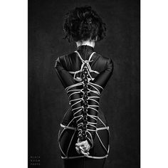 One of my favorites from the shoot with @blackroomphoto ! His rope work is gorgeous!   Photographer: @blackroomphoto  Rope: @blackroomphoto   #shibari #ropebondage #bdsm #kink #fetish #gothgirls #gothfashion #corset #tightlacing #corsetry #blackroomphoto #hobbleskirt #winterfetish #morticia #vampira #vampirella #elvira